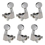 6 pieces Right Left Hand Guitar Tuners Tuning Keys Pegs for Acoustic Guitar Replacement 3R3L Silver