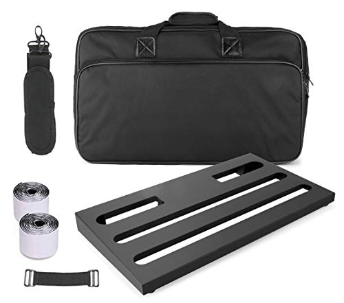 "GOKKO AUDIO GKB-52 Guitar Effects Pedal Board case 22"" x 12.6"" Pedalboard With Carrying Bag (Large)"