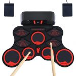 Electronic Drum Set, JEVDES Roll Up Drum Set for Kids, Portable Beginners Electric Drums with Rechargeable Battery, Up to 10hours playing time, Great Gift for Kids & Beginners