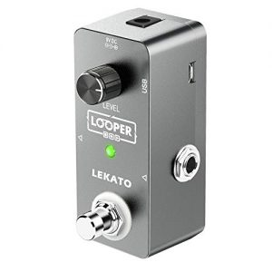 LEKATO Electric Guitar Looper Effect Pedal Loop Pedal True Bypass Unlimited Overdubs 5 Minutes Looping Time Loop station with USB Cable