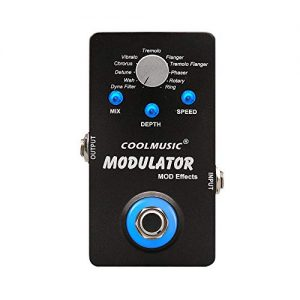 Coolmusic A-ME01 Modulator Multi Effects Pedal with 11 Modes Dyna Filter Wah Chorus Tremolo Flanger Phaser Rotary Ring