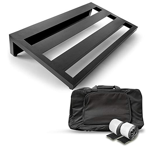 "AxcessAbles Guitar Pedal Board 20"" x 12"" Lightweight Aluminum Alloy Pedalboard with Carry Bag"