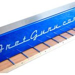 FretGuru Precision Sanding Beam Fret Leveler Leveling File Pro Luthier Guitar Tech Tool includes premium 100, 240, 320 grit peel & stick sandpaper [FINALLY BACK IN STOCK – FRESH BATCH JUST ARRIVED]