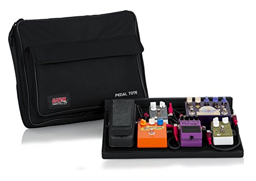 "Gator Cases Guitar Effects Pedal Board with Tote Bag, Velcro Surface, and G-BUS Multi-Output Power Supply; Standard Size: 16.5"" x 12"" (GPT-BL-PWR)"