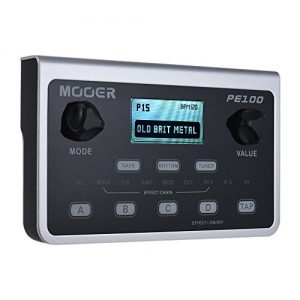 Muslady MOOER PE100 Multi-effects Processor Guitar Effect Pedal 39 Effects 40 Drum Patterns 10 Metronomes Tap Tempo