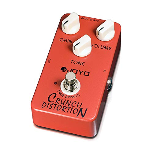 JOYO Crunch Distortion Pedal British Classic Rock Distortion for Electric Guitar Effect (JF-03)