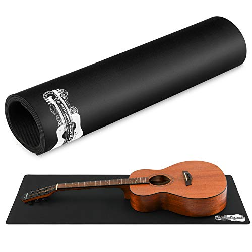 """Donner Guitar Work Mat, Double Layer Non Slip Guitar Bench Mat for Cleaning and Repairing, 17.7"""" × 41.3"""" Black"""