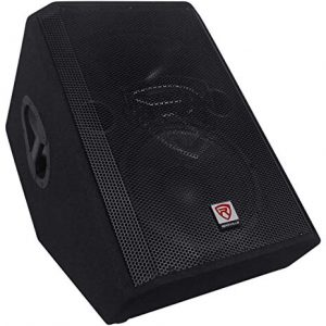 Rockville 1000 Watt 2-Way Powered Active Stage Floor Monitor Speaker, black, 12 inch (RSM12A)