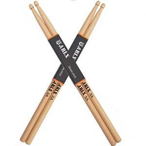 ARLX Drum Sticks 5A Wood Tip Drumstick, Maple, 2 Pair