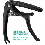 Tontomtp Guitar Capo for Acoustic Guitar,guitar capo for acoustic and electric guitar ukulele Capo(Black)
