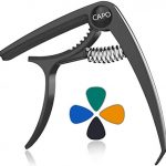 Zinc Alloy Capo for Acoustic and Electric Guitars - with 4 picks