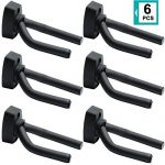 Guitar Wall Hangers, 6 Pack Wall Mount Guitar Holders, Bass Acoustic Electric Guitar Display Stands Wall Hooks for String Instruments Mandolins Banjos Ukuleles, Guitar Accessories, Easy to Install