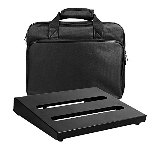 """Soyan Medium Size Metal Pedal Board 13.8"""" x 10.6"""" with Carrying Bag, Self Adhesive Hook & Loop Tapes Included"""