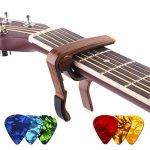 Guitar Capo for Acoustic Electric Bass Guitar Clamp Accessories for Ukulele Banjo Mandolin With Free Wood Pattern Guitar Picks