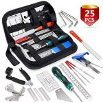 MIFOGE 25Pcs Guitar Repairing Tools Kit Setup Kit with Carry Bag for Acoustic Electric guitar Ukulele Bass Banjo Maintenance Tool with Ruler Gauge Measuring Tool Hex Wrench Files Fingerboard Guard