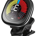 Guitar Tuner Rechargeable Clip On Tuner for Ukulele, Violin and Chromatic Tuning, Fast and Accurate, Easy to Use