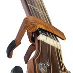 Guitar Capo for Acoustic Guitar and Electric Guitars – Quick Change Clamp Capo for Ukulele and Banjo, Rosewood Color