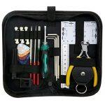 ammoon Guitar Repairing Tool Kit Includes String Organizer & String Action Ruler & Gauge Measuring Tool & Hex Wrench Set & Files for Guitar Ukulele Bass Mandolin Banjo