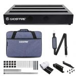"Ghost Fire Guitar Pedal Board Aluminum Alloy 1.08lb Effect Pedalboard 13.7''x5.5'' with Carry Bag,V series (V-Little bo(16.9""x12.2""))"