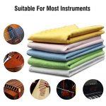 5pcs Microfiber Cleaning Polishing Polish Cloth Set for Musical Instrument Guitar Violin Piano