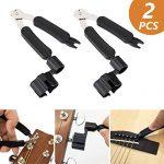 Techson Guitar String Winder 2 Pack, 3 in 1 String Winder, Cutter, Peg Puller Tool Set, Functional Repair Multi Tool for Guitar, Ukulele, Mandolin or Banjo (Black)