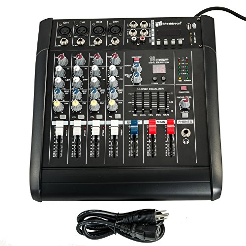 iMeshbean 4 Channel Professional Powered Mixer Power Mixing Amplifier Amp 16DSP with USB Slot M#01 USA
