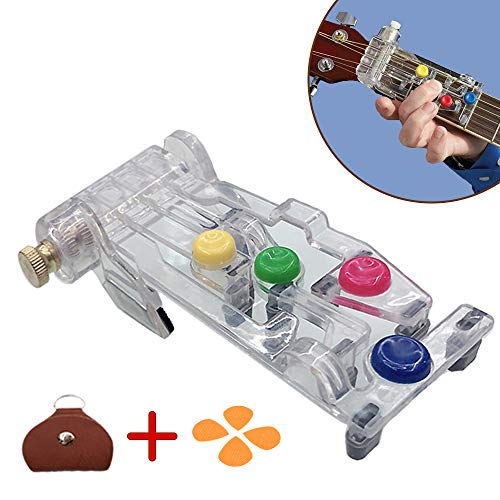 Guitar Chord Learning System Practice Aid Tool,Classical Guitar Tuners Tools Pain-Proof Finger Guitar Aid for Beginners Trainer