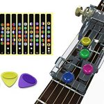 Guitar Beginner One- Key Chord Assisted Learning Tools Guitar Practice Aid Tool Classical Guitar Chord Practice Tool (With 3 Picks and 1 PCS Stickers)