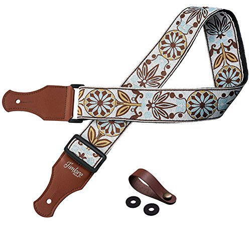 TIMBREGEAR extreme comfort acoustic guitar strap electric guitar strap free - two guitar strap locks guitar strap button!