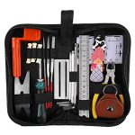 Guitar Repairing Tool Kit(26PCS) Wire Plier,String Organizer,Fingerboard Protector,Hex Wrenches, Files, String Ruler Action Ruler, Spanner Wrench,Bridge Pins for Guitar Ukulele Bass Mandolin Banjo