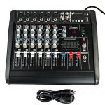 iMeshbean 6 Channel 2000 Watt Professional Powered Mixer with USB Slot Power Mixing Amplifier USA (6 Channel)